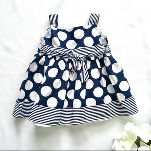 Other - 3-6M Navy & White Sailor Dress